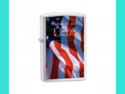 Зажигалка Zippo 24797, 200 MADE IN USA FLAG