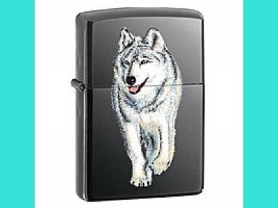Зажигалка Zippo 150 WOLF BLACK ICE