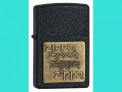 Зажигалка Zippo 362 Brass Emblem Black Crackle