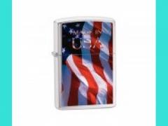 Зажигалка Zippo 24797  200 MADE IN USA FLAG