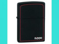 Зажигалка Zippo 218 ZB Balck Matte w/Zippo Border